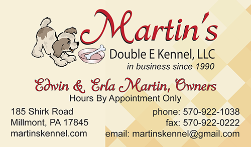 Martin's Double E Kennel, LLC - front