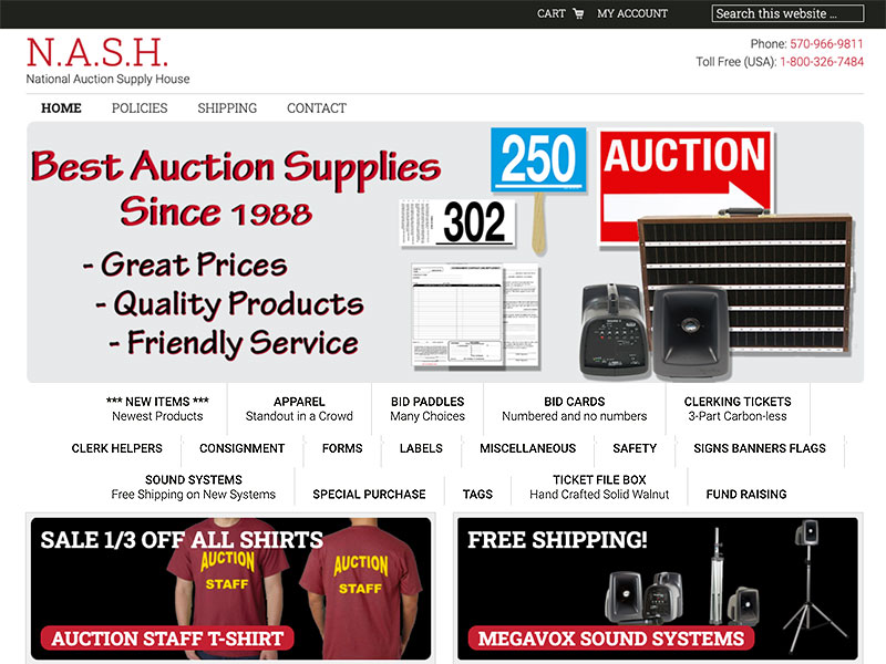 National Auction Supply House
